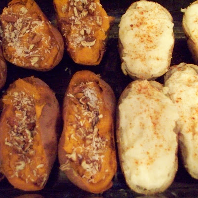 Twice Baked Spicy and Sweet Potatoes