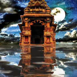 Khajuraho Temple, MP, India by Sudipto Bhaumik - Digital Art Places
