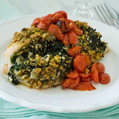 Gluten Free Pistachio Crusted Quick Greek Chicken