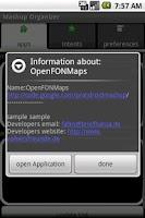 Screenshot of Mashup-Organizer
