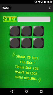 YAMB dice - screenshot