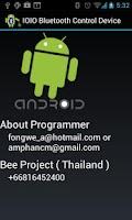 Screenshot of IOIO Bluetooth Device Control