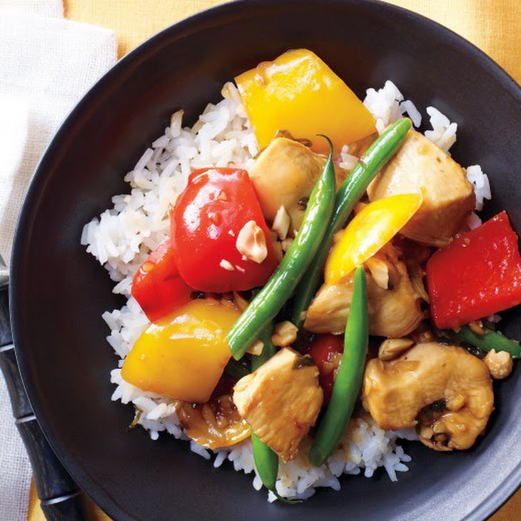 Sweet-and-Sour Chicken with Green Beans