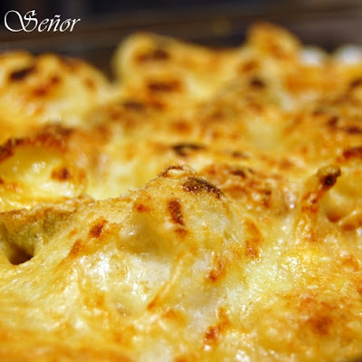 Cauliflower au Gratin with Mustard Pasta