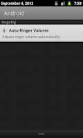 Screenshot of Auto Ringer Volume