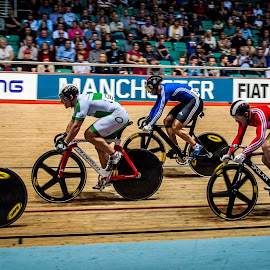 Bell Lap by Chris Hartley - Sports & Fitness Cycling ( #fast, #cycling, #trackcycling, #powerful, #keirin, #velodrome )