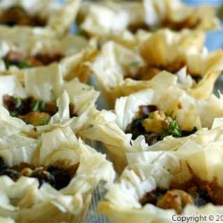 Grilled Portobello Mushrooms in Phyllo Cups