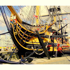HMS Victory by Colin Waite - Transportation Boats ( hms victory ship nelson portsmouth )