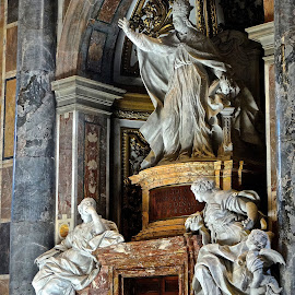 Vatican Pope Statues by Steven Aicinena - Buildings & Architecture Statues & Monuments ( statues, vatican, pope )