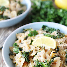 Goat Cheese Lemon Pasta with Kale