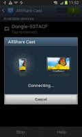 Screenshot of AllShareCast Dongle S/W Update