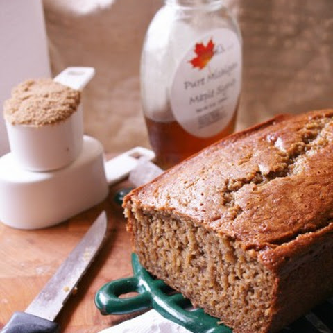 Brown Sugar and Maple Syrup Banana Bread