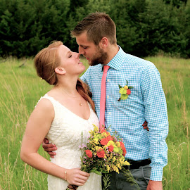 by Jordan Johanek - Wedding Bride & Groom ( Wedding, Weddings, Marriage )