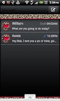 Screenshot of GO SMS THEME/HotPinkLeopard