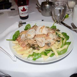 Chicken Penne by Cory Bohnenkamp - Food & Drink Plated Food ( dinner, chicken, plated food, pasta, penne, meal )