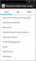 Screenshot of Financial Analyst Exam Level 1