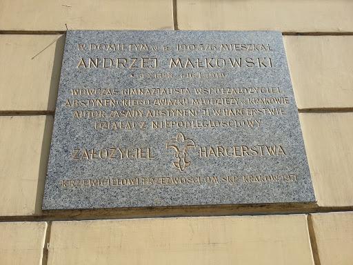 Andrzej Małkowski - Tablica Pamiątkowa