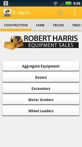 Robert Harris Equipment Sales