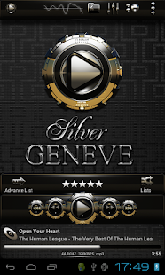 Poweramp skin Silver Geneve - screenshot