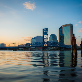 Sunset Avenue  by Grant Foreman - City,  Street & Park  Skylines ( jacksonville, skyline, sunset, golden hour,  )