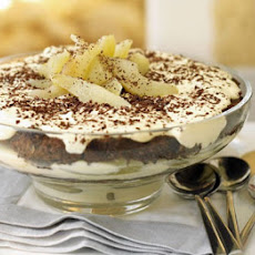 Christmas Pear & Chocolate Tiramisu Trifle