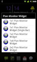 Screenshot of Plan Monitor Widget