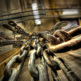 Chains by Eric Demattos - Artistic Objects Industrial Objects ( steam plant, industrial, metal, chains, links, rust )