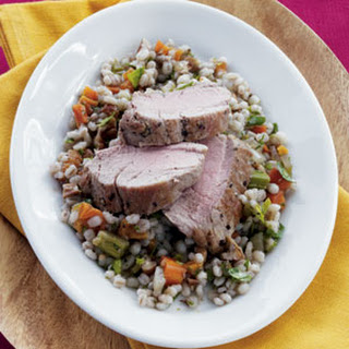 Roasted Pork Tenderloin with Apricot-Barley Pilaf