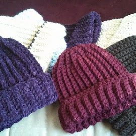 Mom made more hats for the kids at my school!! by Lucy Bernier - Artistic Objects Clothing & Accessories (  )