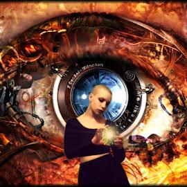 Eye of the Beholder by William Carson - Digital Art People ( beautiful, sphere, beauty, carson, eye )