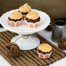 Chocolate Pumpkin Cupcakes with Orange Pumpkin Cream Cheese Frosting
