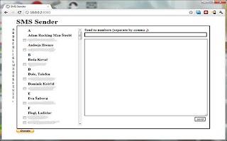Screenshot of Remote SMS Sender
