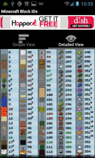 Minecraft Block IDs