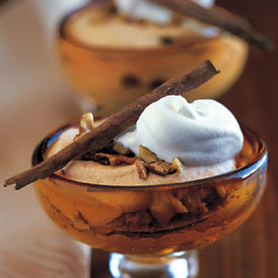 Frozen Pumpkin Mousse with Walnut-Toffee Crunch