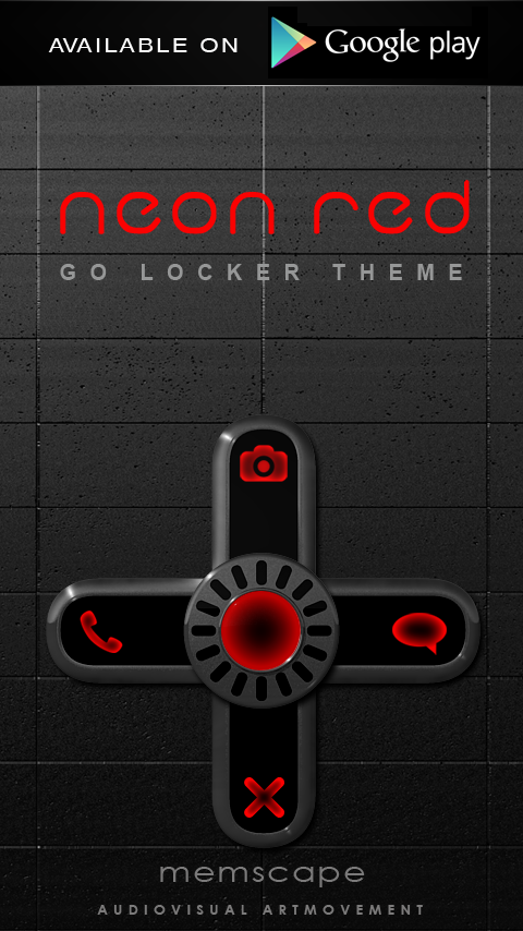 Next Launcher Theme Neon Red Screenshot 4