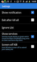 Screenshot of Task Killer FREE