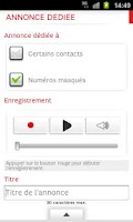 Screenshot of SFR Business Répondeur +