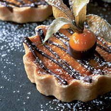 Orange Cream Cheese Flans With Chocolate