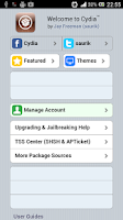 Screenshot of Cydia