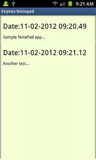 Exynos Notepad