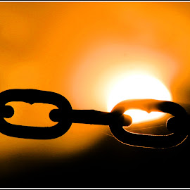 Chained Sunset by Danie Knipe - Buildings & Architecture Architectural Detail ( chain, sunset, dkpgs, union buildings, danie knipe )