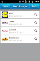 Screenshot of Shopping List