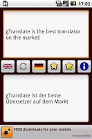Screenshot of gTranslate