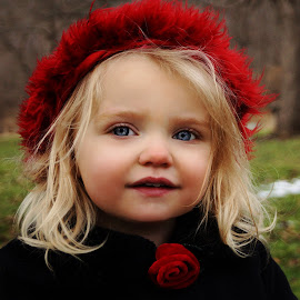 Little Red Beauty by Cheryl Korotky - Babies & Children Child Portraits