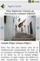 Screenshot of Algeria Guide Lite