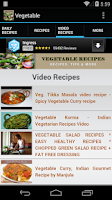 Screenshot of Vegetable Recipes