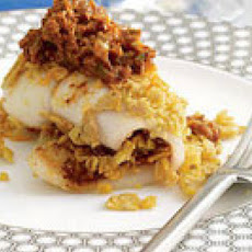 Tortilla-Stuffed Flounder