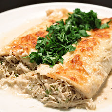 Shredded Chicken and Mayocoba Bean Enchiladas