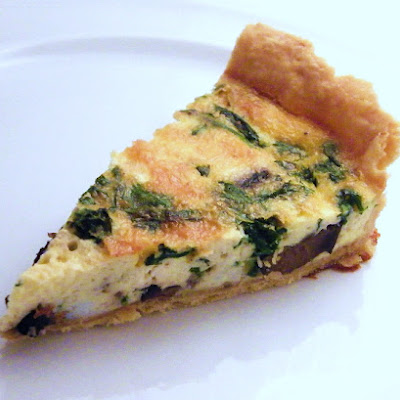 Mushroom, Spinach and Feta Quiche