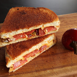 Grilled Cheese with Pepperoni and Pickled Cherry Peppers